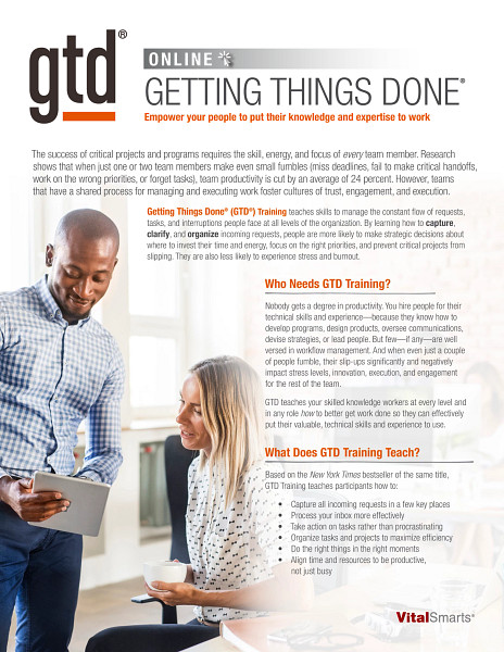 Getting Things Done Live Online Overview